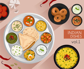 Food Illustration : Indian Food