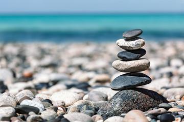 Foto auf Leinwand Zen Zen balanced stones stack