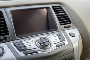 Console panel of the car