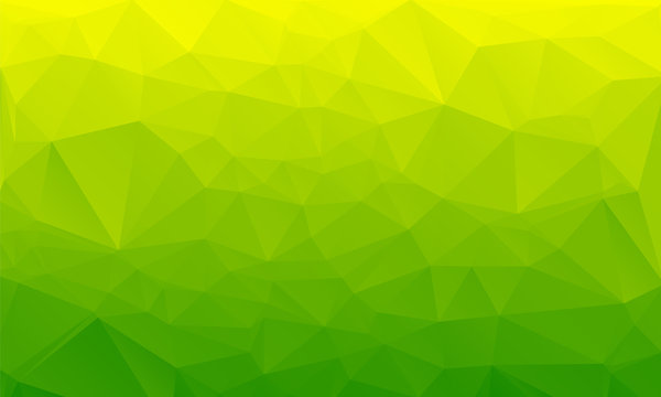 Shades of green abstract polygonal geometric background. Low