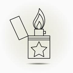 Lighter icon. vector