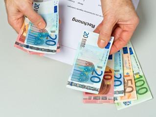 Rechnung bezahlen - Barzahlung