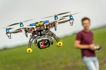Unmanned copter flight