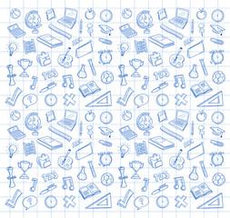 Biro drawn education icons vector