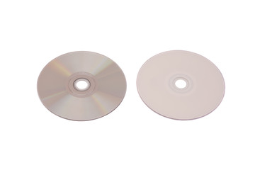 Cd disc on white background,