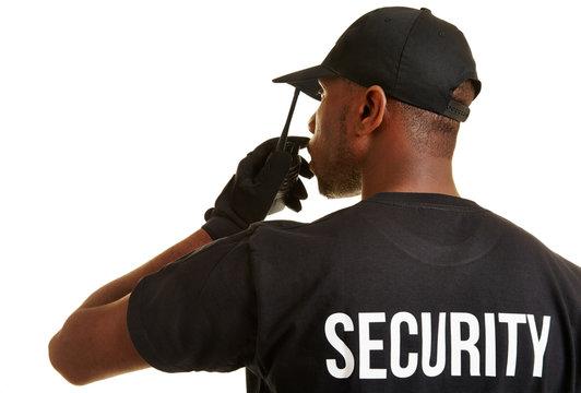 Security Mann vom Personenschutz