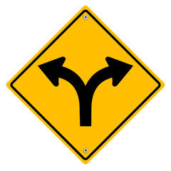 Yellow sign. Vector art.