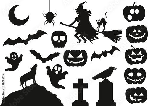 Vektorpaket Halloween\