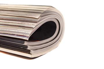 Color magazines isolated on white background