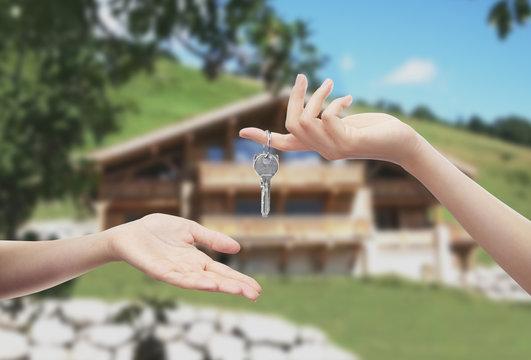 Consegna chiavi chalet montagna
