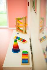 Pädagogisches Spielzeug in einer Kita