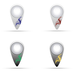 Location icons/Black and white Location icons