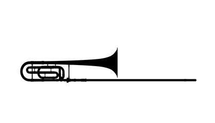 Silhouette of trombone