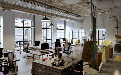 B ro in altem fabrikloft offiice in old industrial - Loft industriel muratore construction design ...