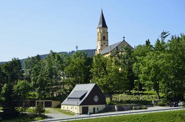 Pfarrkirche und Friedhof Oberwiesenthal, Erzgebirge