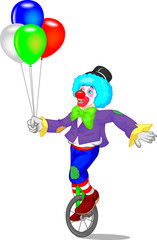 funny clown cartoon