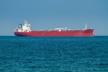 Big cargo ship in sea