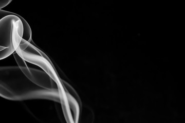 Abstract smoke isolated on black