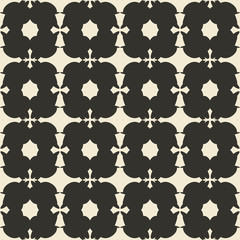 Geometric ornament seamless pattern.  Monochrome design template seamless background. Round, polygonal and grunge motif endless texture.