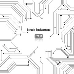 Vector : Electronic circuit on white background