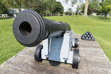 Close up of a cannon