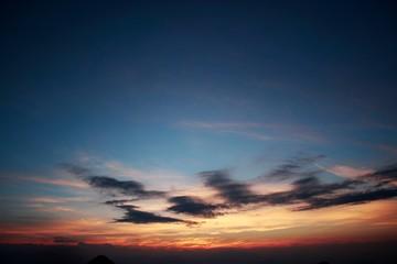 夏の夕暮れ/標高2000mからの夕暮れ風景 Fototapete