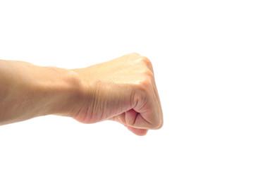 握り拳 男性の手