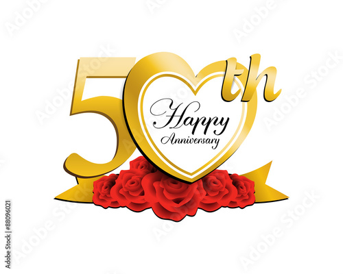 wedding anniversary logo heart 50 stock image and royalty free