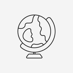 Globe line icon