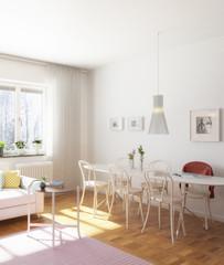Einfache Wohnzimmereinrichtung (Fokus)