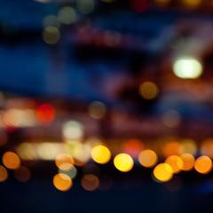 colorful bright lights on dark night background