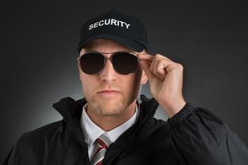 Security Guard Wearing Sun Glasses