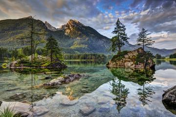 Wall Murals Reflection Alps, lake Hintersee