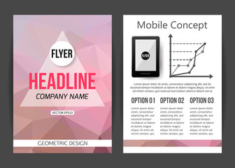 Corporate business stationery brochure template with