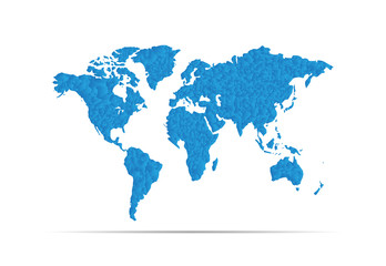 Earth map blue