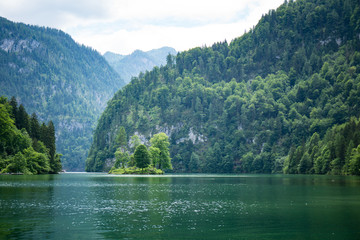Alpine Lake, Konigssee, Bavaria, Germany