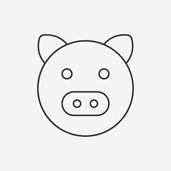 pig line icon