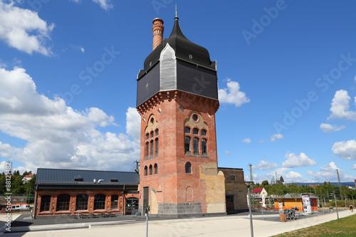Wiesbaden, der Wasserturm und das Kesselhaus auf dem ...