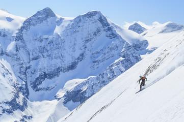 Freerider an einem Steilhang am Kitzsteinhorn