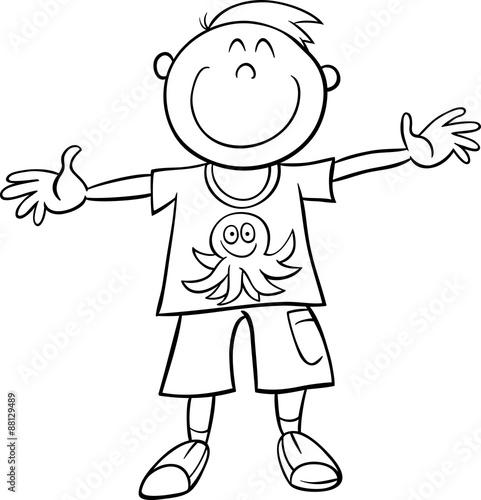 happy boy coloring book\