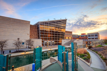 Indiana State Museum at sunset