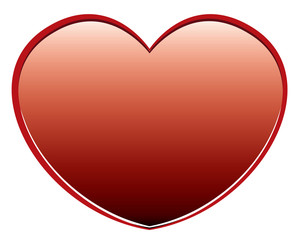 Vector red heart on a white background