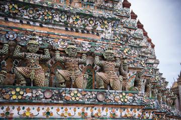 Details of Wat Arun Temple statue, Bangkok, Thailand 7