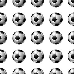 Seamless soccer balls background. Football
