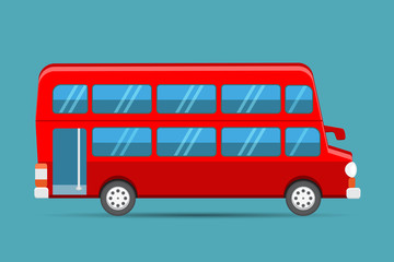 Double Decker Red Bus, london red bus vector
