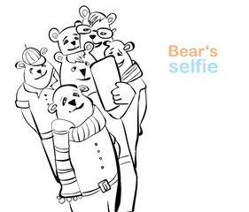 bear selfie. many bears do self photo.