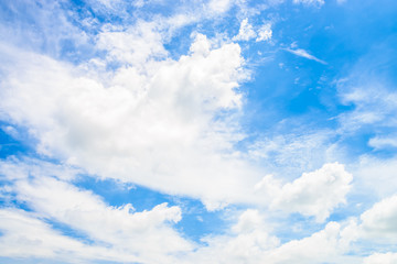 White cloud on bluy sky background