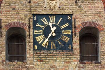 Flensburg - Uhr der Heilig Geist Kirche