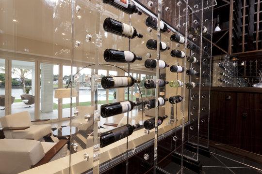 Modern wine storage shelves