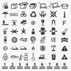 Paper box icons set. illustration eps10